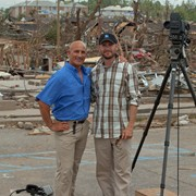 Cantore and I in Tuscaloosa, tornado
