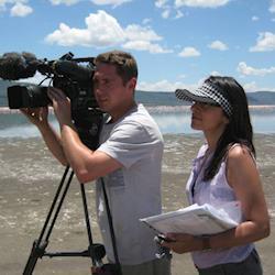 On location wth BBC in Kenya
