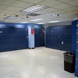 Cast locker room, break room