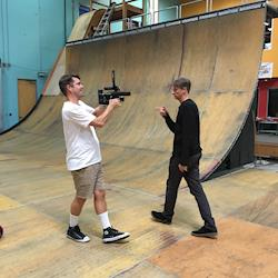 Filming Tony Hawk for The Berrics