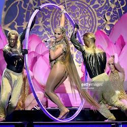 Bodypaint for Acrobats for Jennifer Lopez El Anillo Performance for 2019 Latin Billboard Awards, Las Vegas, NV