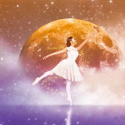 Ballerina on the Moon