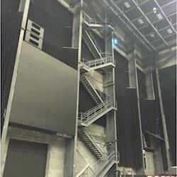 Stairs to access the grid