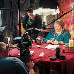 Working with talent on award winning short film, Lady Lillian