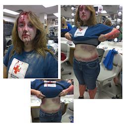 mock disaster hospital training.