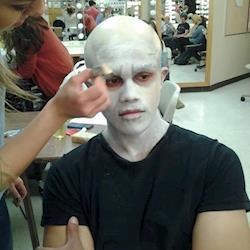 Elijah Abel Thomas' transformation to Voldemort progress shot.