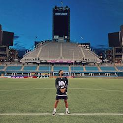 "SixTwentySix Productions' Director TylerYee on location at Lumen Field for Travis Thompson ft. G-Eazy's ""Dead Prezis"" Music Video"