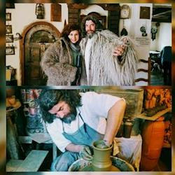 Filming with the Potter in Romania for Travels with my Father Netflix production