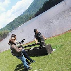 Filming in toxic conditions - Science Channel - Toxic Lake Romania