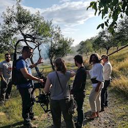 Nat Geo Team filming One strange rock in Romania