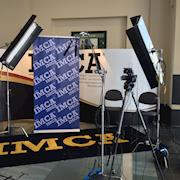 Conference interview set