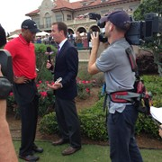 Tiger after The Players for ESPN