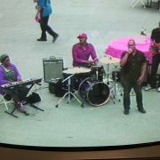 Live band audio as seen from a video feed.