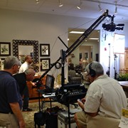With our jib shooting a furniture commercial