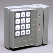 """""""Access Control Keypad/Card-Swipe"""" rigged for simulated (self contained) operation."""