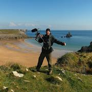 """Ethan enjoying the view Wales has to offer, on the set of FX's """"The Bastard Executioner."""""""