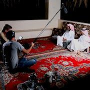 Yoho Media filming an interview with some farmers in Riyadh, Saudi Arabia.