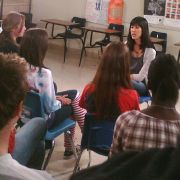"""Behind the scenes of Laura Ling for E! Investigates """"Teen Suicide"""". Makeup and hair for Laura Ling by Candace Corey."""