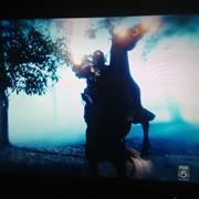 """Ed raring up as """"War"""" in Sleepy Hollow, season 2, episode 10"""