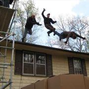 Stunt Performers jumping into a Box Rig at FX Stunt School in Atlanta, GA