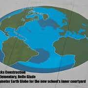 16' diameter Earth Globe - Hedrick Brothers Construction - Gove Elementary