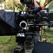 High Bright Prompter in use with Arri Alexa