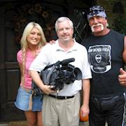 With Hulk Hogan for German TV, Sat One