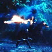 "Ed riding as ""War"" in Sleepy Hollow, season 2, episode 2"