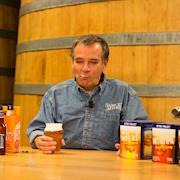 Boston Beer founder Jim Koch leading beer tasting