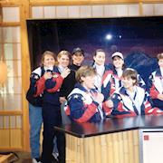 Rhonda styles the Gold Medal winning US Women's Hockey Team @ Nagano Olympic Games