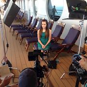 Disney Media tour on Cruise ship