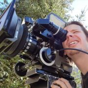 Checking the frame on a project I was the DP for.