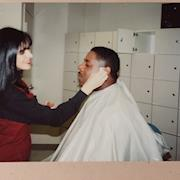 Rhonda styling Fred Hickman for CNN