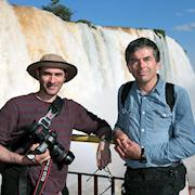 On a shoot in Paraguay: Andy Linda & Daniel Gamburg.