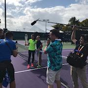 Filming at the Miami Open Tennis Tournament