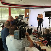 Shooting for ABCSports with Graham Rahal & Courtney Force