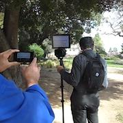 Portable TelePrompter on a small hand-held rig