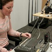 Candice monitors audio for SimpliVity
