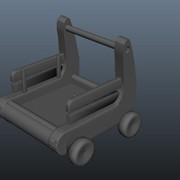 Modeling: Wagon (June 2012); Autodesk Maya