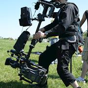 Short Film shoot in Montrose Park, Chicago with Panasonic HPX500 on Steadicam in low mode.