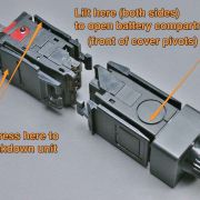 Device breaks-down into 2 modules (transmitter & power supply).