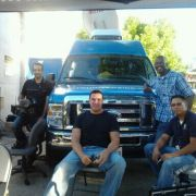 Angel J. Ortiz working with The City of Riverside A/V team for The Festival of Lights
