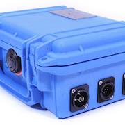 The fiber-optic system is integrated into a durable Pelican case.