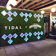Tidal and Appleton Rum live wall South Beach event