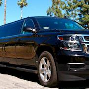 Picture car exotic stretch Chevy limousine with disco floors and jet door