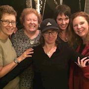 With Nancy and our stars Brynn Horrocks and Laura Ann Grimaldi and DP Kimby Caplan