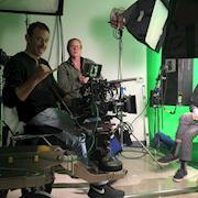 Good times on set!