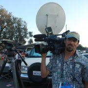 shooting and uplinking at rose Bowl 2012