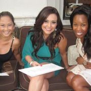 Holding court @ the Actress Model Table w/Melia Morgan and Phuoi Trinh