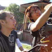 On the Universal Studios backlot, DPing a short film.